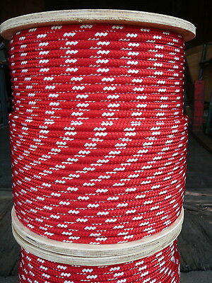 "Dacron Sailboat Rope 3//8/"" x 100/' White//Red NovaTech XLE Halyard Sheet Line"