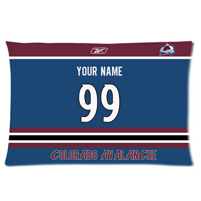 New Custom Colorado Avalanche Hockey Pillow Case With Your Name And Numbers Ebay
