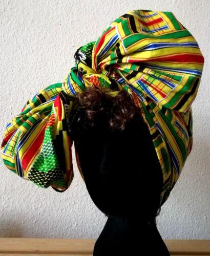 Kente African Design Head//Tie Wrap African Print Scarf