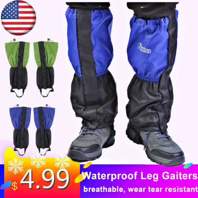 Waterproof Outdoor Hiking Climbing Hunting Snow Legging Gaiters Blue S