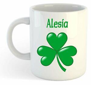 Alesia - Trèfle Nom Personnalisé Tasse - Irlandais st Patrick Cadeau bHMIOIvW-09085635-899414834