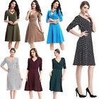 Retro Women Polka Dot Swing 1950s Housewife Pinup Vintage Rockabilly Party Dress