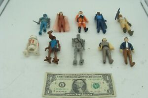 Vintage Star Wars Lot of 10 Action Figures With Some Weapons 1970's & 1980's