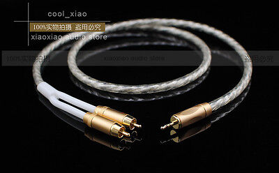 NEW 1.8M MCA ~ Silver Plated ~ Hi-End 3.5 to 2RCA Male high quality Audio Cable