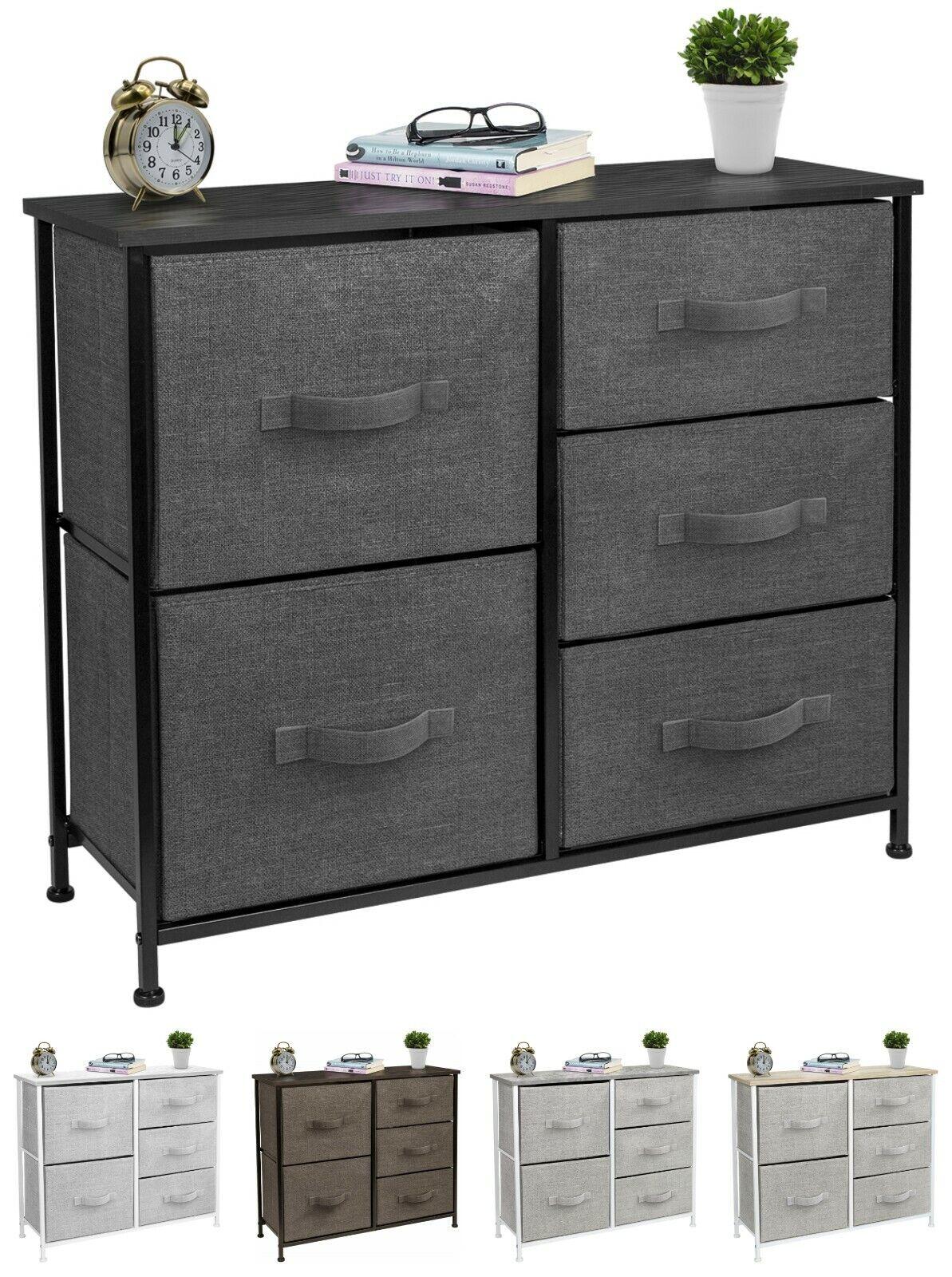 Wooden Dressers For Bedroom Extra Wide Dresser Storage Tower Unit 5 Drawers Home For Sale Online Ebay