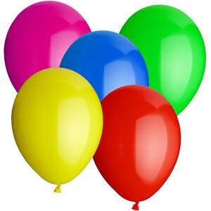 SALE-Latex-Luftballons-30-cm-Standard-50-Stk-bunt-Dekoballons-Raumdeko