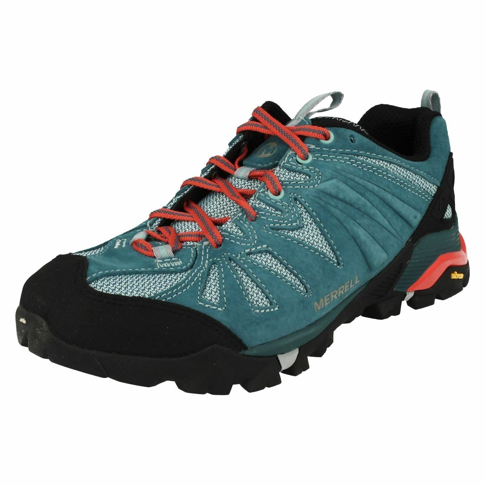 LADIES MERRELL CAPRA LACE UP LEATHER WALKING HIKING TRAINERS SHOES