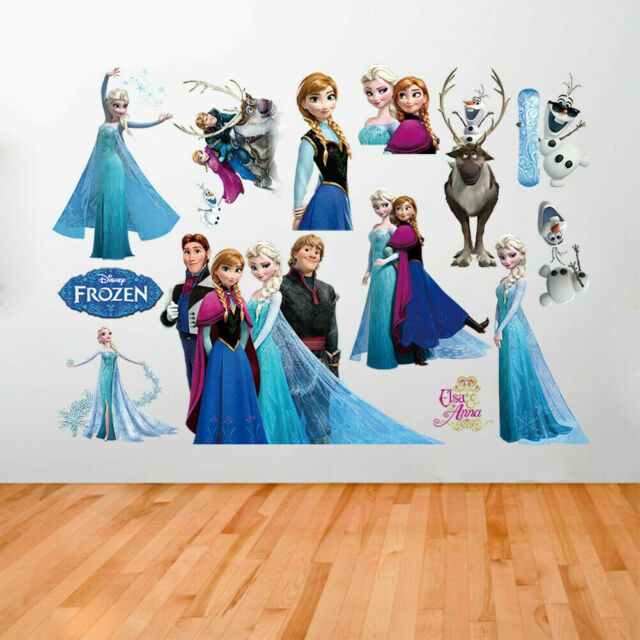 DISNEY FROZEN Elsa Anna Wall Stickers Decal Removable Home Decor Kids Art Mural