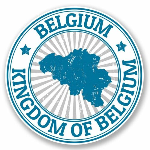 2 x Belgium Vinyl Sticker Laptop Travel Luggage #4728