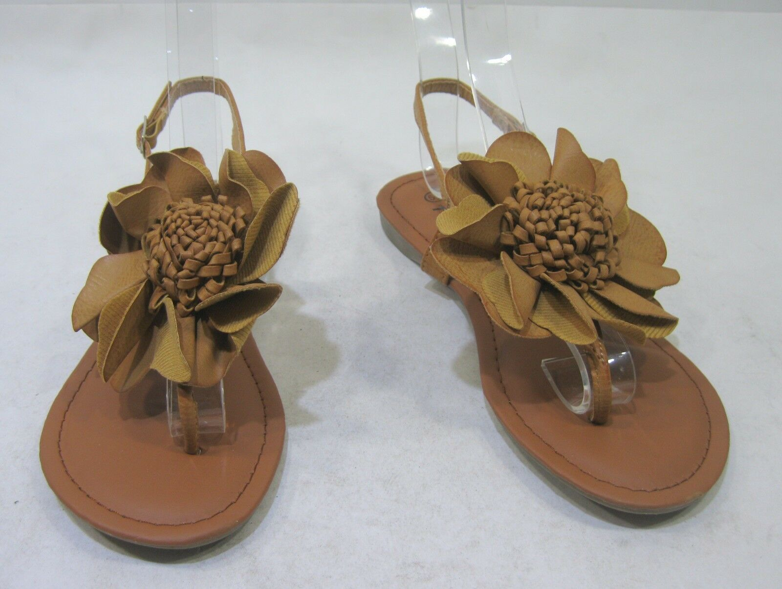 NEW Shoes LADIES Tan Sandals Flower Sexy Summer Cool Sandals Tan Size 5.5 f8394d