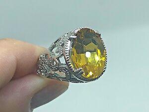 bague en argent jaune