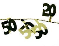 Draht Girlande 50 Goldene Hochzeit Party Tischdeko