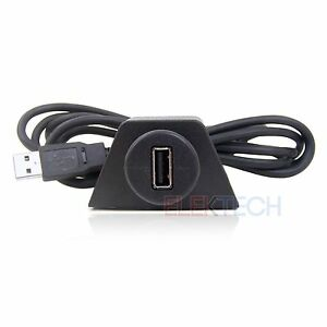 PAC-USBCBL-USB-Cable-Extention-with-Dash-Mounting-Bracket-6-039-ft-Universal