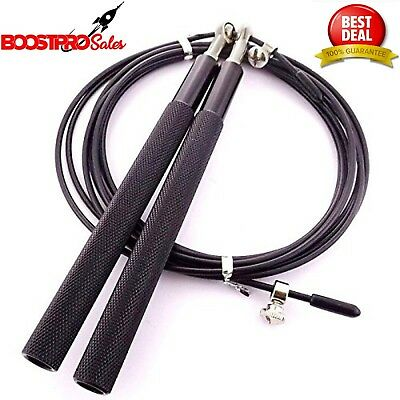 Boxing Fitness Cross fit 3M WOD ORANGE//GRAY 10ft Adjustable Speed Jump Rope