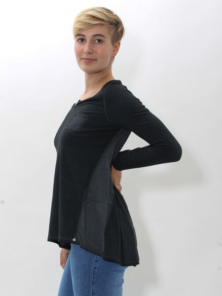 20% Tunic Blouse Shirt from Simclan Size 38 40 42 44 Anthracite Dark Grey New