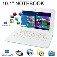 10 Windows 10 Win White Mini Pc Notebook Netbook Laptop Wifi Computer Kids