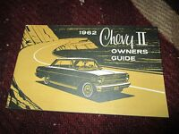 1962 Chevrolet Chevy Ii Factory Original Owners Manual Nice