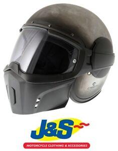 Caberg Ghost Iron Motorcycle Helmet Urban Street Fighter Retro Pinlock J S Uk Ebay