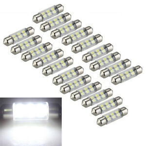 20x-0-3W-36mm-6-LED-3528-SMD-Lampe-Sofitte-Innenraumbeleuchtung-Weiss-ET