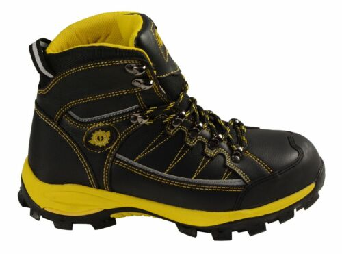 Men/'s Black /& Yellow Water//Frost Proof Leather Boots W// Composite Toe *MBM9123ST
