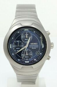 Orologio-Seiko-v657-6190-chronograph-watch-stainless-steel-clock-seiko-horloge
