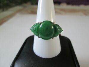 Burmese-Green-Jade-Sterling-Silver-Ring-TGW-9-12-cts