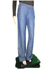 Gianfranco FERRE Womens New Vtg Hippy Boho Boyfriend Blue Jeans sz 28 IT42 AN74