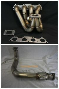 Details about PLM B Series Top Mount Turbo Manifold Down Pipe Combo Honda  Civic CRX Del Sol
