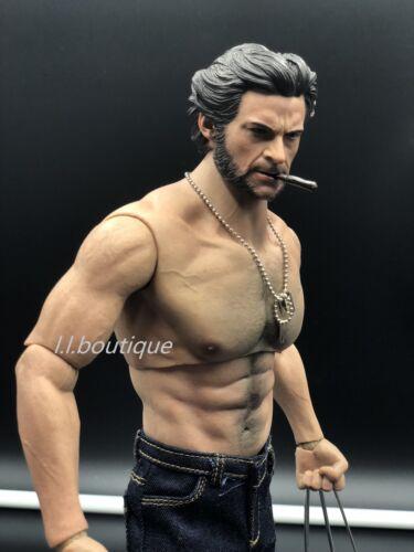 Custom 1//6 SCALA Logan Wolverine worldbox muscolare COMPLETO FULL Figure Set