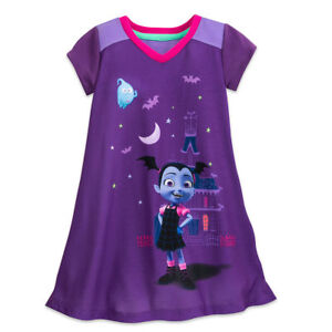 Disney-Store-Vampirina-Nightshirt-Pajamas-PJ-039-s-for-Girls-Size-2-3-4-5-6-7-8-9-10