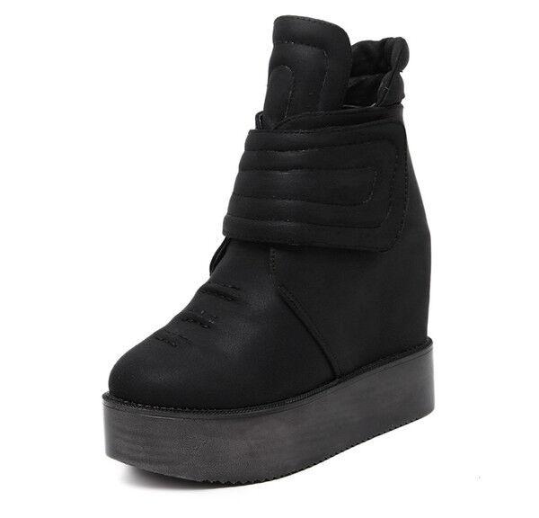 Stiefel elegant elegant elegant niedrig komfortabel 11 cm schwarz PLATFORM simil Leder CW812 8eefe7