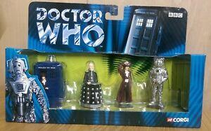 CORGI-TY96202-Dr-Who-40th-Anniversary-Set-incl-Tardis-Davros-Dr-Who-amp-Cyberman