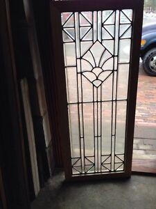Sg 217 all beveled glass door panel or landing window antique ebay image is loading sg 217 all beveled glass door panel or planetlyrics Choice Image