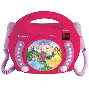 OFFICIAL-DISNEY-PRINCESS-CD-PLAYER-WITH-MICROPHONES-KIDS-BY-LEXIBOOK