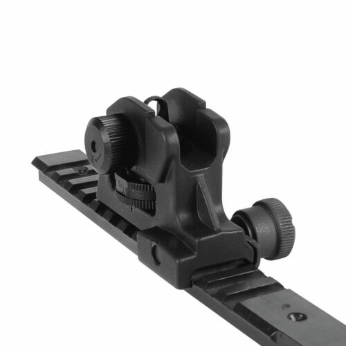 Adjustable A2 Rear Sight Dual Apertures Fixed Match-Grade 223//5.56 Rifle Rail