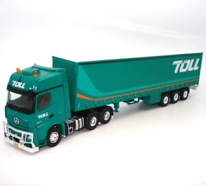 1-50-AUSTRALIAN-TOLL-MERCEDES-SEMI-TRAILER-TAUTLINER-LOAD-NEW