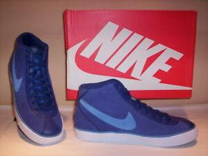 Nike-Bruin-Mid-scarpe-sportive-alte-sneakers-uomo-pelle-camoscio-blu-shoes-men