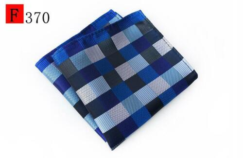 Pocket Square Handkerchief Blue Silver Red Orange Turquoise Green Patterned