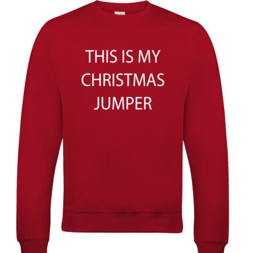 This Is My Christmas Jumper Mens Funny Xmas Sweatshirt Secret Santa Bah Humbug