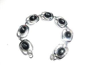 Black-Star-Natural-Gemstone-Handmade-925-Sterling-Silver-Bracelet-7-8-034