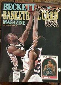 ISSUE-2-Beckett-Basketball-Magazine-May-Jun-1990-David-Robinson-front-cover