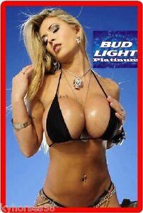 Bud Light Platium Beer Sexy Babe Refrigerator Magnet Ebay