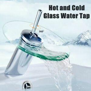 Waterfall Glass Fountain Basin Bathroom Tap Sink Designer ...