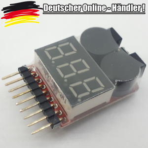 1 -  8S Battery Voltage LIPO Tester Low Stromspannung Buzzer AIP Drone L0251