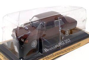 Altaya 1/43 Scale Model Car 204435 - Wartburg 353 - Brown