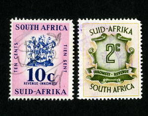 South-Africa-Stamps-Lot-of-2-Used-Revenues