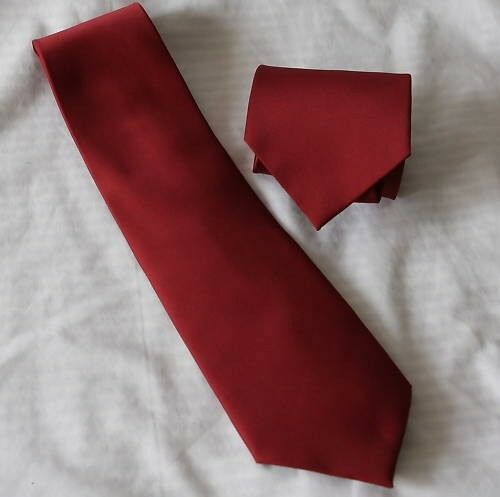 Harry Potter Costume Style Dark Red Necktie Neck Tie Suspenders Braces Boys Men