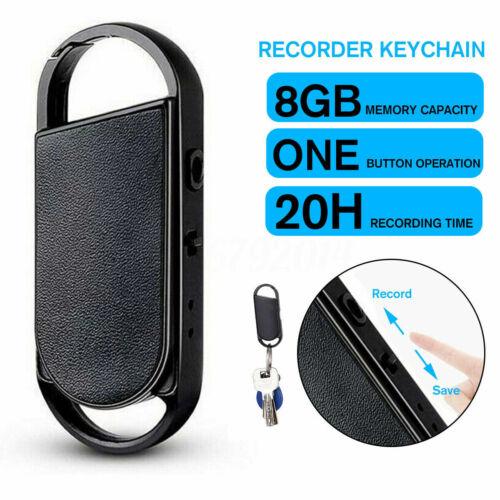 Mini Digital Voice Activated Recorder Spy Audio Sound Recorder MP3 8G Magnetic