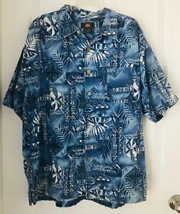 ROUTE-66-Hawaiian-Style-Men-039-s-Size-L-Short-Sleeve-Shirt-100-Cotton