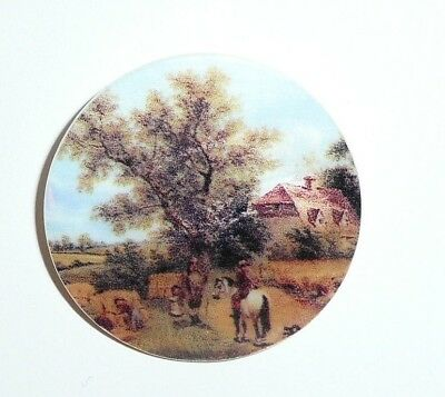 Country Life Farm Horse MOP Button on Mother of Pearl Shank Button 1-3/8""